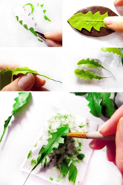 Cách làm hoa bồ công anh từ đất sét siêu xinh 14