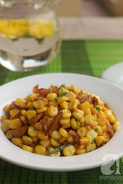 Làm món bắp xào cực ngon ăn vặt trong ngày giao mùa 20