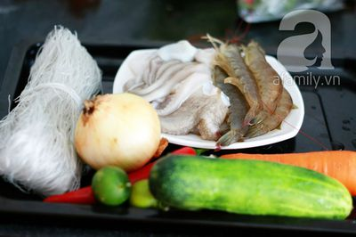 Món ngon cuối tuần: Miến trộn hải sản 3