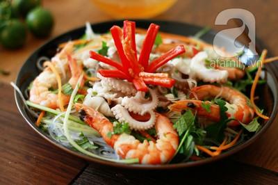 Món ngon cuối tuần: Miến trộn hải sản 12