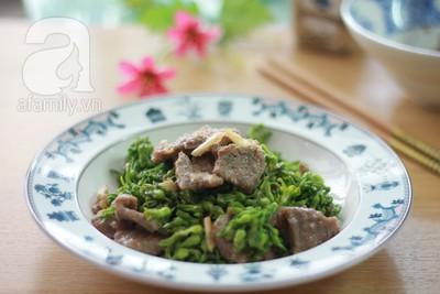 Đầu tuần ngon cơm với thiên lý xào thịt bò  14
