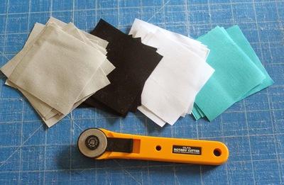 Cách ghép vải quilting tự may ví cầm tay xinh xắn 3