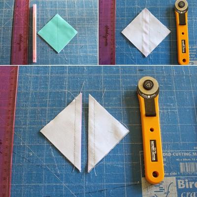 Cách ghép vải quilting tự may ví cầm tay xinh xắn 6