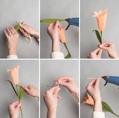 Làm hoa ly giấy đẹp thanh nhã trang trí nhà mình 9