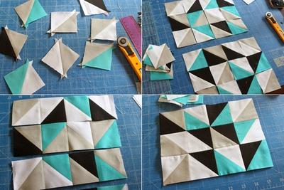 Cách ghép vải quilting tự may ví cầm tay xinh xắn 8