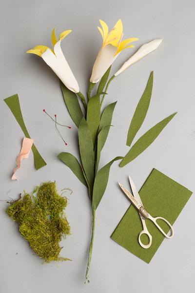 Làm hoa ly giấy đẹp thanh nhã trang trí nhà mình 11