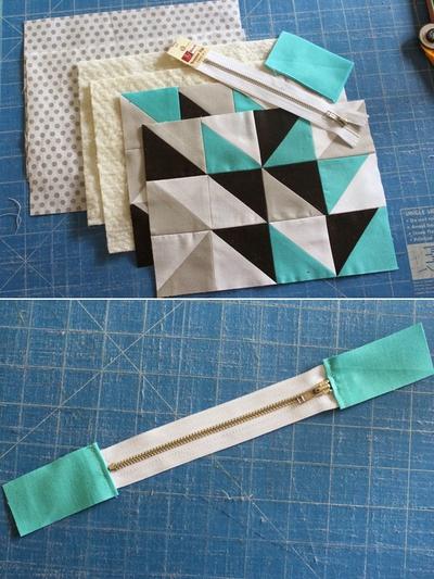 Cách ghép vải quilting tự may ví cầm tay xinh xắn 10