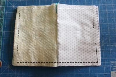 Cách ghép vải quilting tự may ví cầm tay xinh xắn 14