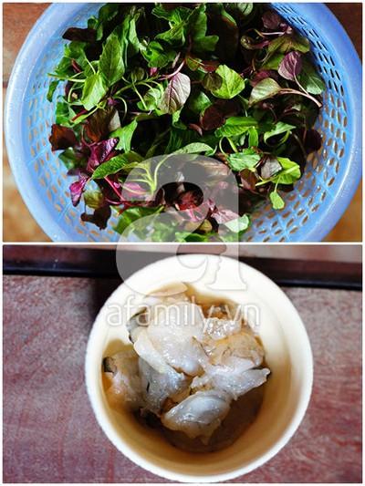 Mát lành canh rau dền nấu tôm 5