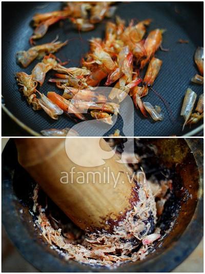 Mát lành canh rau dền nấu tôm 7