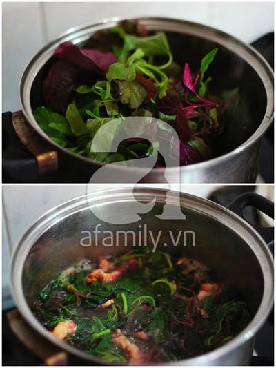 Mát lành canh rau dền nấu tôm 13