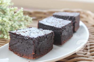 Dùng nồi cơm điện làm bánh brownies ngon tuyệt đỉnh 24