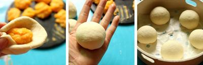 Bánh bao nhân trứng muối đậm đà lạ miệng 15