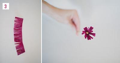 Cách làm hoa giả từ giấy nhún cực đẹp mà dễ 8
