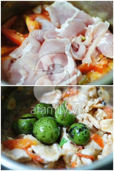 Canh sấu nấu thịt chua ngon hết sảy! 9