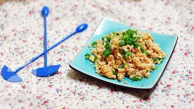 Trứng bác cà chua siêu tốc mà ngon cơm 15