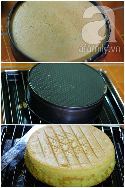 Cách làm bánh chiffon 2 màu không cần khuôn chuyên dụng 17