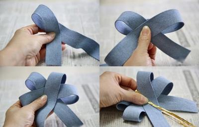 2 cách làm kẹp nơ sắc xanh dịu dàng xinh xắn  5