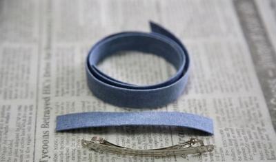 2 cách làm kẹp nơ sắc xanh dịu dàng xinh xắn  15