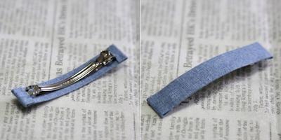 2 cách làm kẹp nơ sắc xanh dịu dàng xinh xắn  20