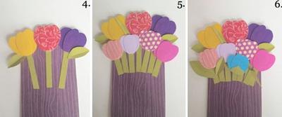 Tự chế thiệp hoa tulip rực rỡ sắc màu siêu xinh 10