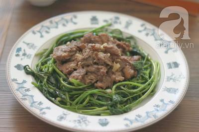 Giản dị ngon cơm với rau lang xào thịt bò 18