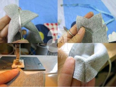 Cách may áo gi-lê cho bé từ mẫu cũ cực dễ dàng 12