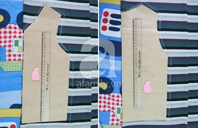 Cách may áo gi-lê cho bé từ mẫu cũ cực dễ dàng 8