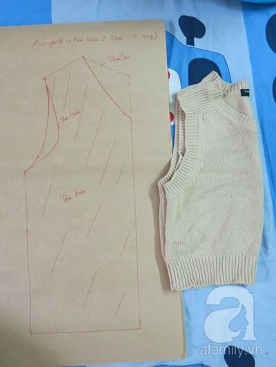 Cách may áo gi-lê cho bé từ mẫu cũ cực dễ dàng 5