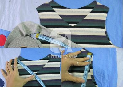 Cách may áo gi-lê cho bé từ mẫu cũ cực dễ dàng 10