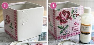 Làm mới chậu hoa siêu xinh trang trí nhà mình 7