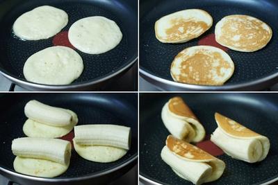 Bánh Pancake cuộn chuối cho bữa sáng ngon miệng 10