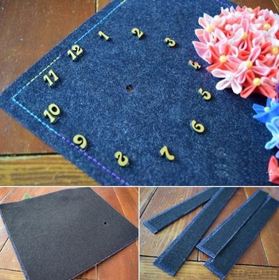 Tranh đồng hồ hoa cẩm chướng trang trí nhà ấn tượng 12