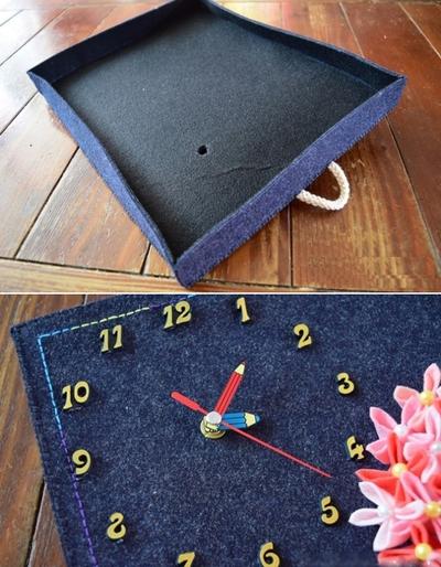 Tranh đồng hồ hoa cẩm chướng trang trí nhà ấn tượng 14
