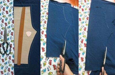 Với 20.000đ tiền vải, mẹ may 3 quần dài cho bé mặc mùa đông! 5