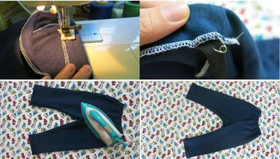 Với 20.000đ tiền vải, mẹ may 3 quần dài cho bé mặc mùa đông! 11