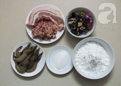 Thơm giòn nóng hổi món bánh rán nhân tôm thịt 3