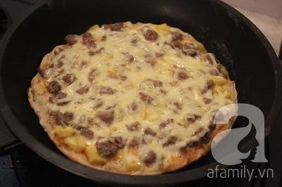 Dùng chảo làm bánh Pizza ngon như nhà hàng thật dễ! 21