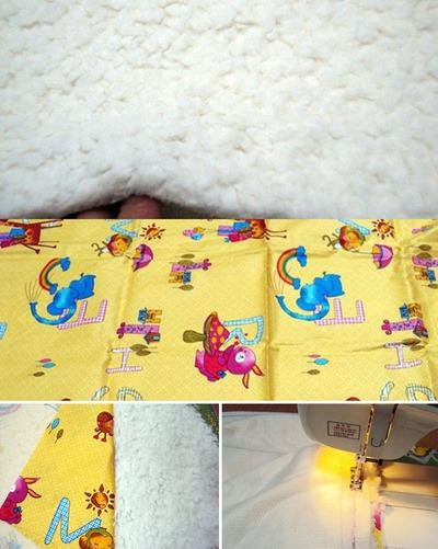 Tự may bộ chăn gối và khăn đáng yêu tặng bé 5