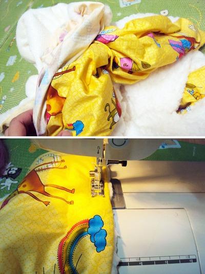 Tự may bộ chăn gối và khăn đáng yêu tặng bé 6