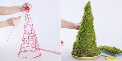 3 cách làm cây thông mini đáng yêu cho mùa Noel 5