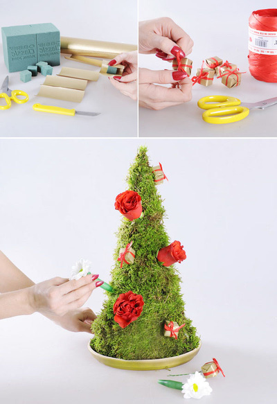 3 cách làm cây thông mini đáng yêu cho mùa Noel 7