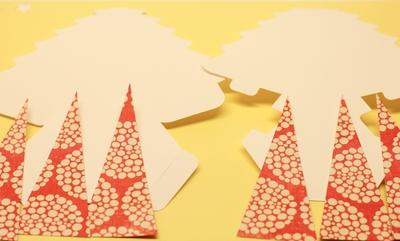 Tự chế hộp quà hình cây thông Noel siêu xinh 6