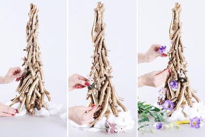 3 cách làm cây thông mini đáng yêu cho mùa Noel 16