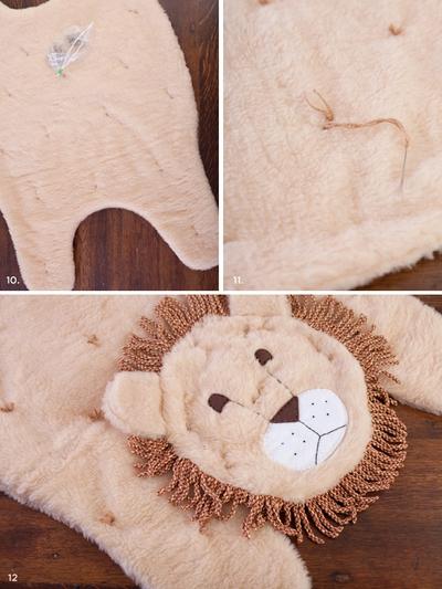 Mẹ may thảm sư tử đáng yêu cho bé vui đùa 14