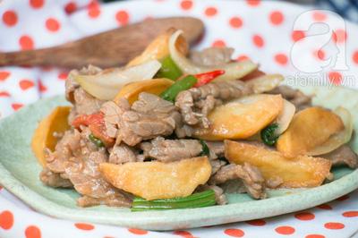Thịt bò xào khoai tây ngon lạ cho bữa tối 18