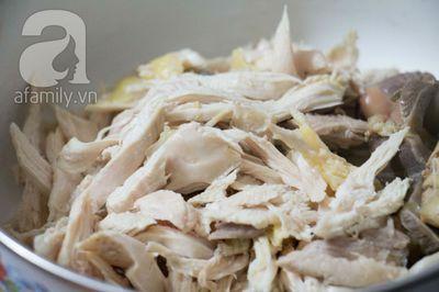 Súp gà thanh nhẹ tận dụng từ gà luộc ngày Tết 4