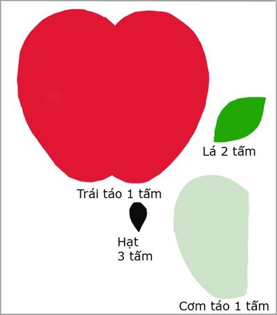 Trang trí phòng bé đẹp xinh lấy ý tưởng từ trái táo 2