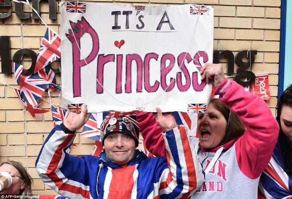 Người dân Anh hạnh phúc vì đất nước có thêm Công chúa