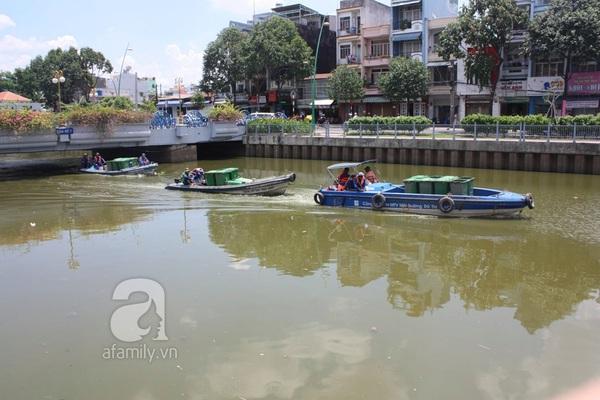 Quá ô nhiễm, cá chết hàng loạt dưới kênh Nhiêu Lộc 9